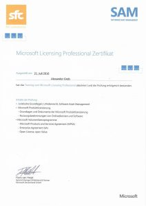 Microsoft Licensing Proffessional
