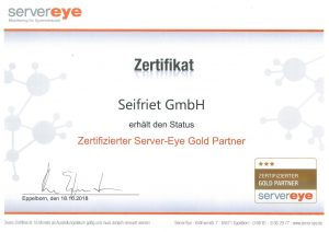 Zertifizierter Server-Eye Gold Partner (2018)